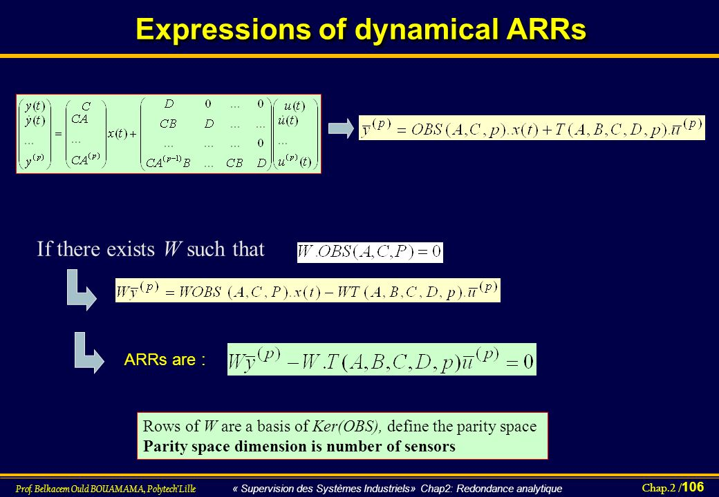 Expressions of dynamical ARRs