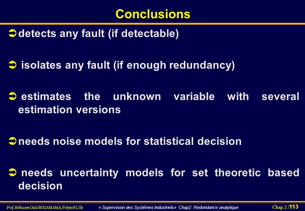 Conclusions detects any fault (if detectable)