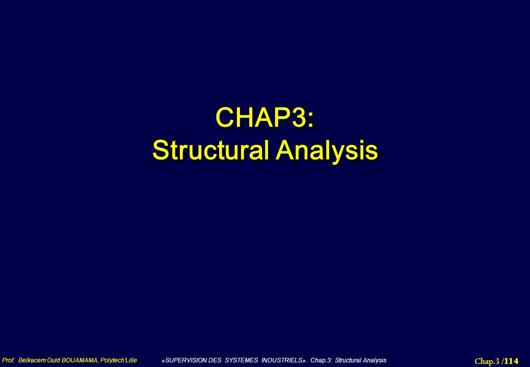 CHAP3: Structural Analysis