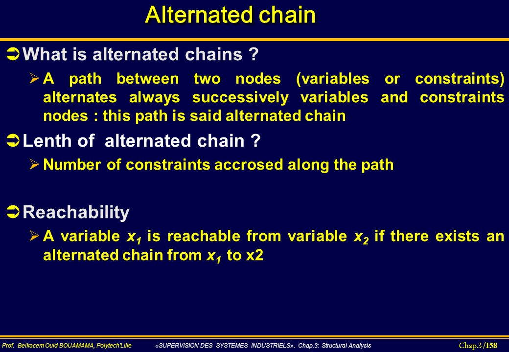 Alternated chain What is alternated chains