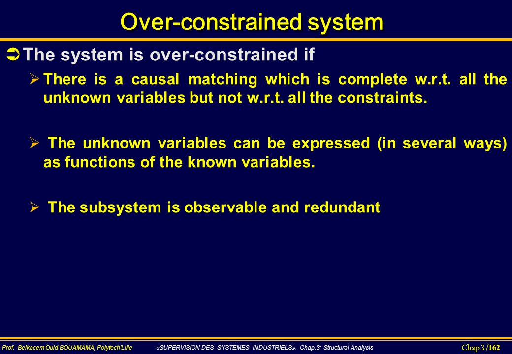 Over-constrained system