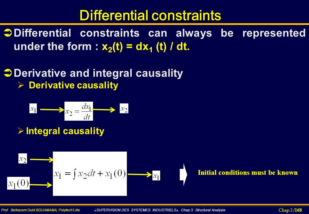 Differential constraints