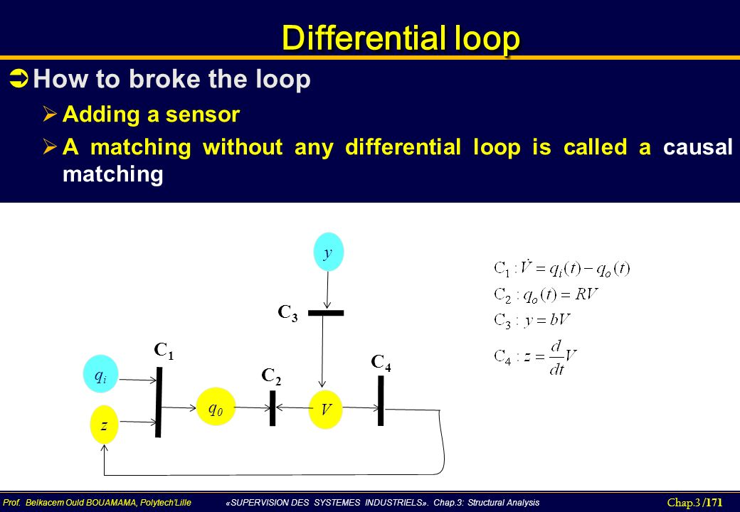 Differential loop How to broke the loop Adding a sensor
