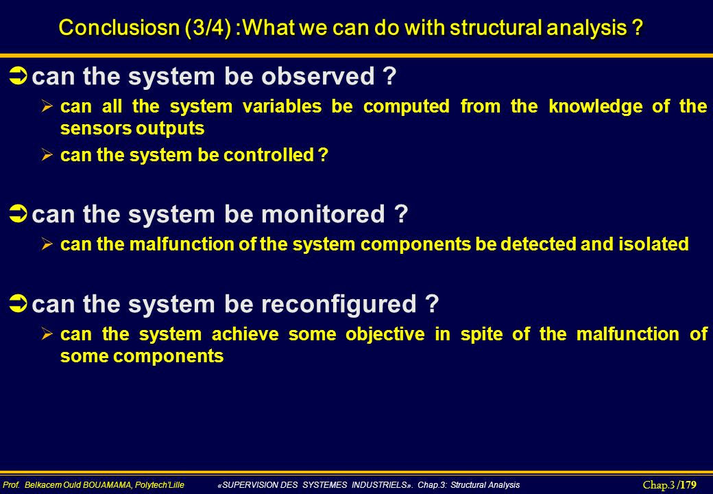 Conclusiosn (3/4) :What we can do with structural analysis