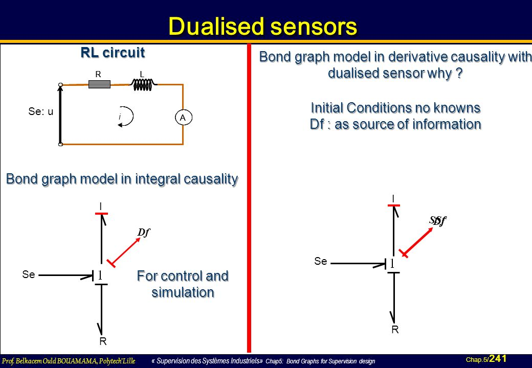 Dualised sensors RL circuit