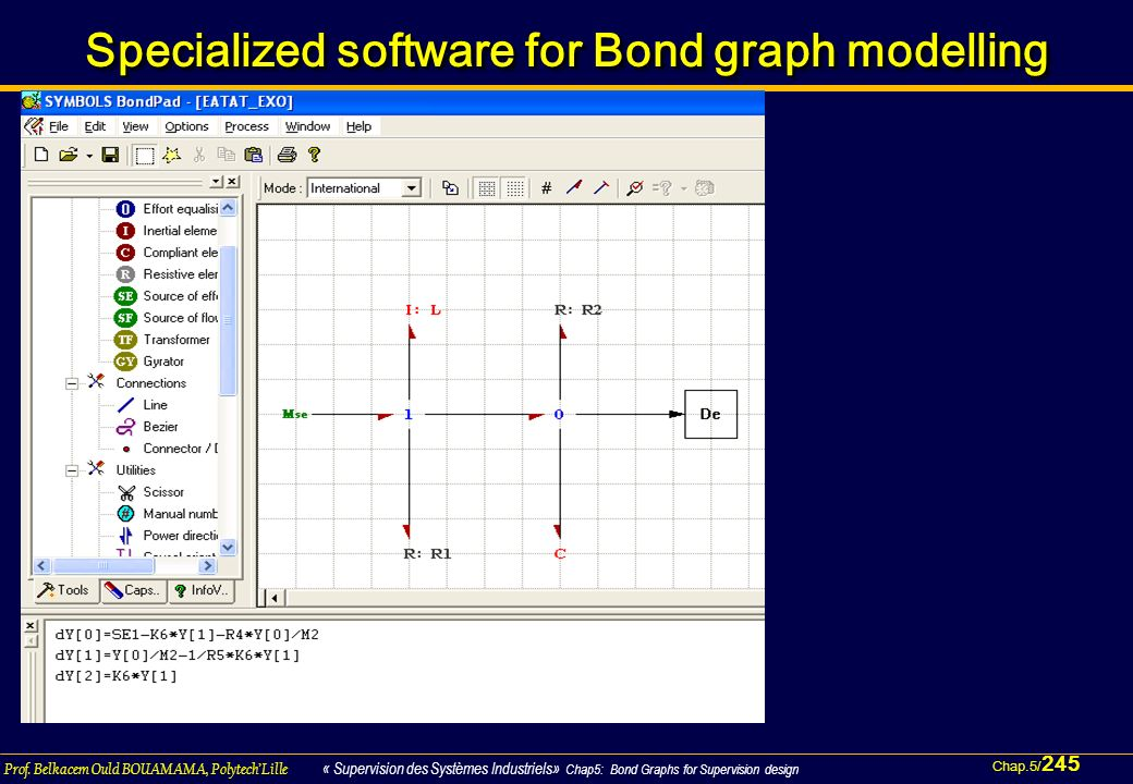 Specialized software for Bond graph modelling
