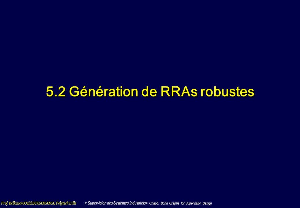 5.2 Génération de RRAs robustes