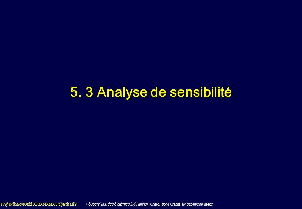 5. 3 Analyse de sensibilité