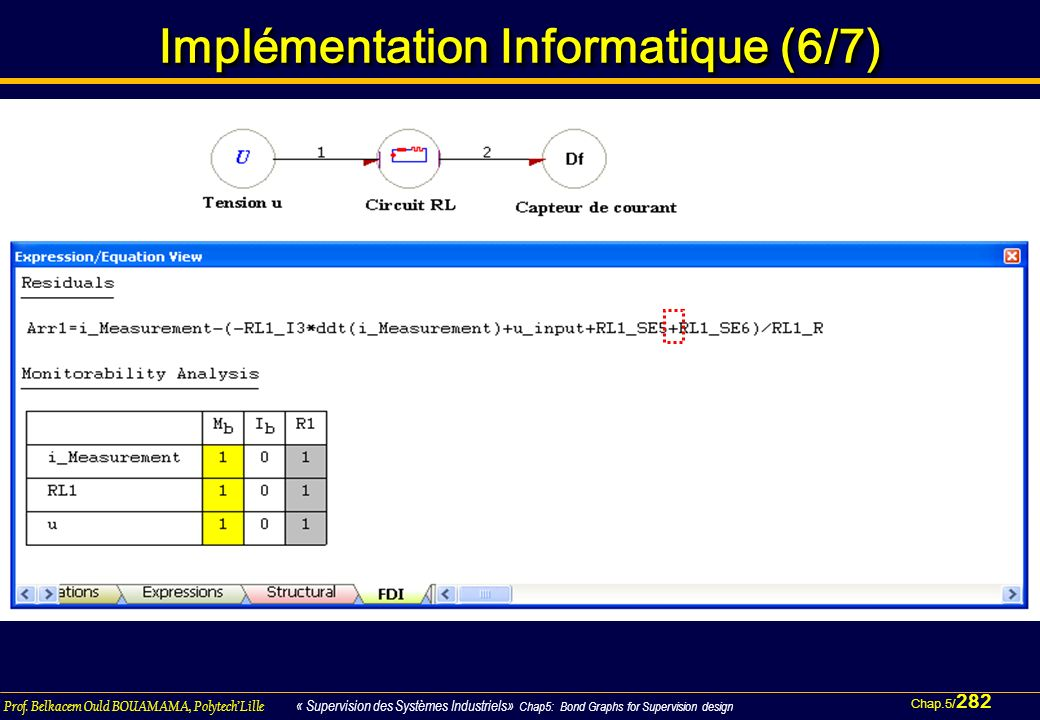Implémentation Informatique (6/7)