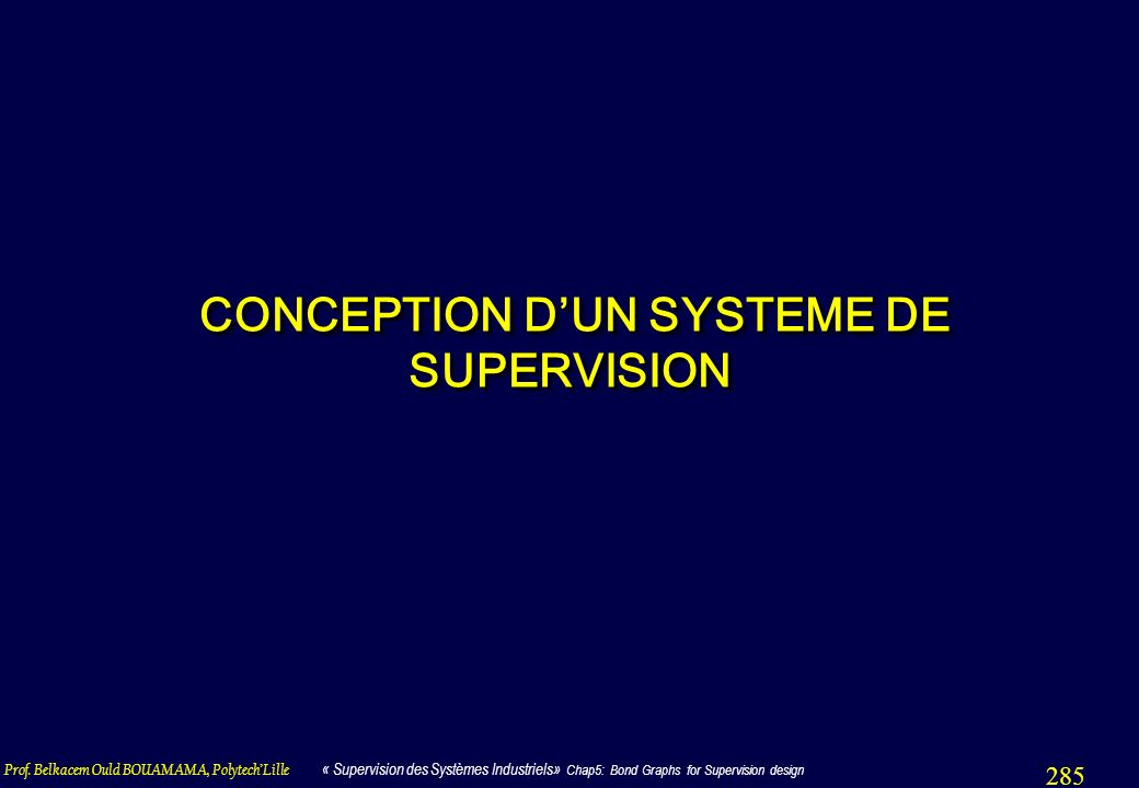 CONCEPTION D'UN SYSTEME DE SUPERVISION
