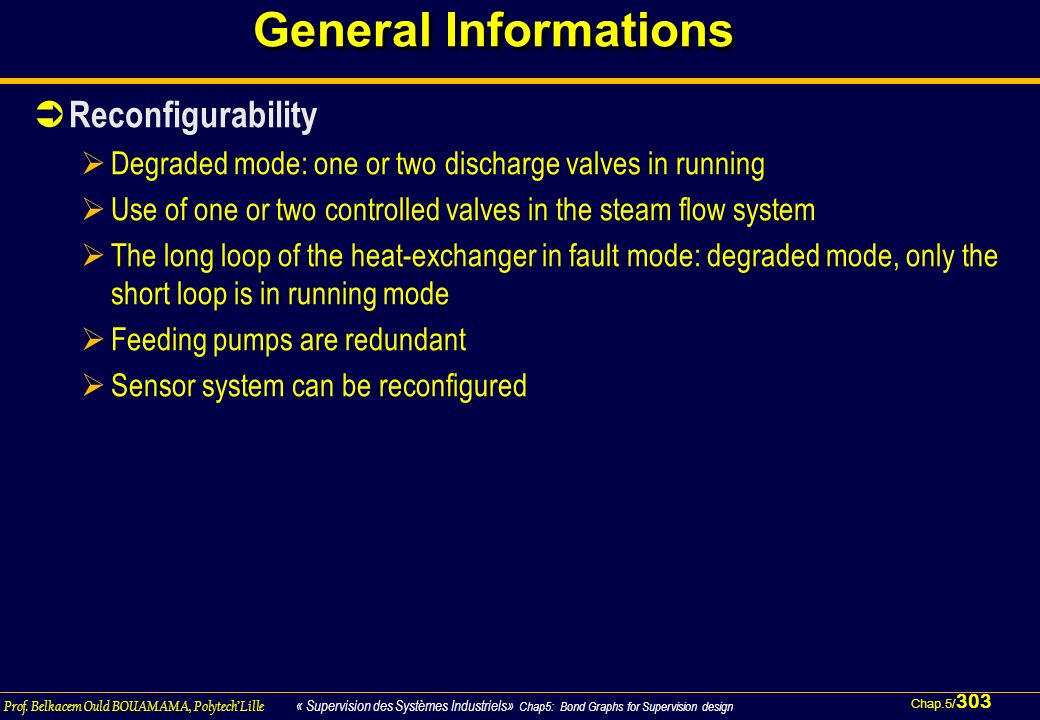 General Informations Reconfigurability