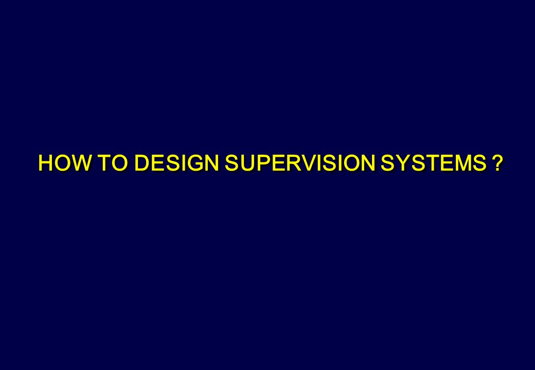 HOW TO DESIGN SUPERVISION SYSTEMS