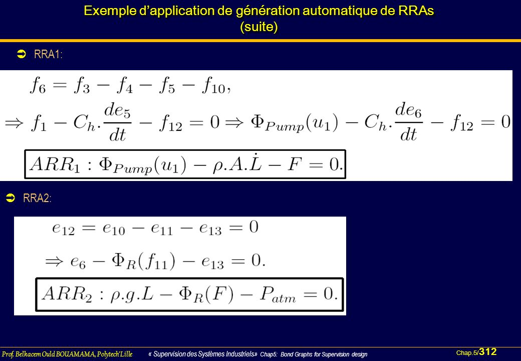 Exemple d'application de génération automatique de RRAs (suite)