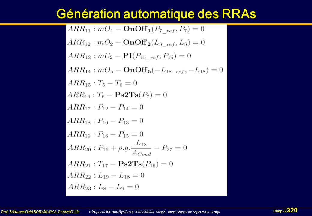 Génération automatique des RRAs