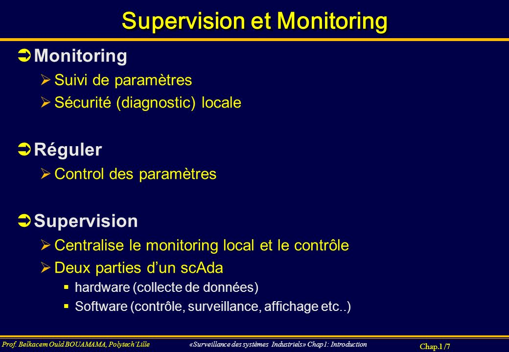 Supervision et Monitoring