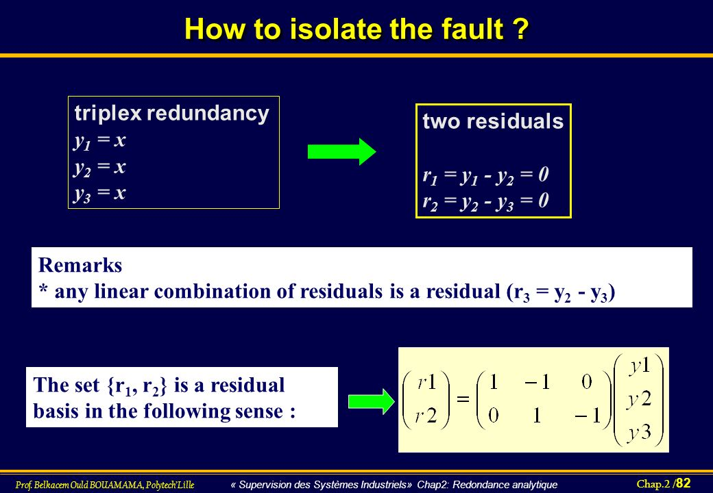 How to isolate the fault