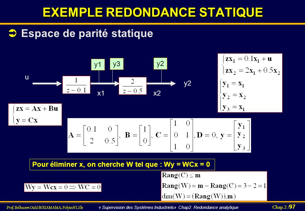 EXEMPLE REDONDANCE STATIQUE