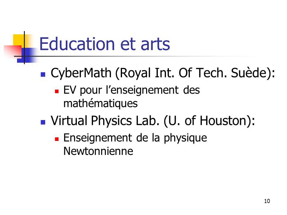 Education et arts CyberMath (Royal Int. Of Tech. Suède):