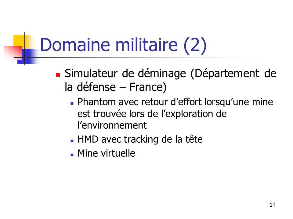 Domaine militaire (2) Simulateur de déminage (Département de la défense – France)