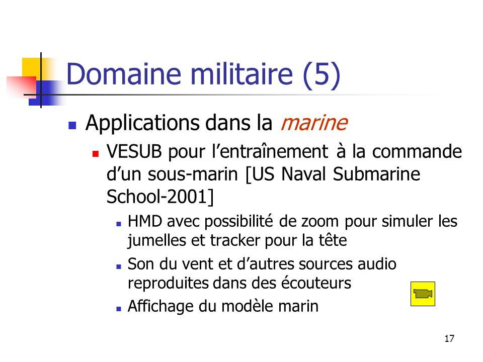 Domaine militaire (5) Applications dans la marine