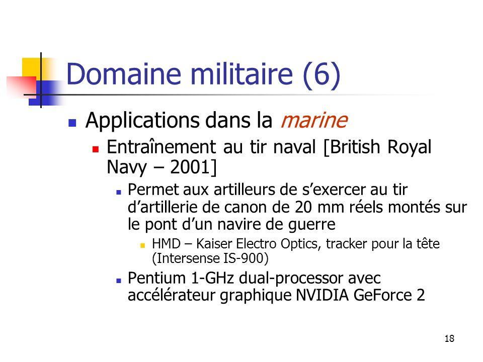 Domaine militaire (6) Applications dans la marine