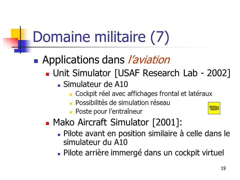 Domaine militaire (7) Applications dans l'aviation