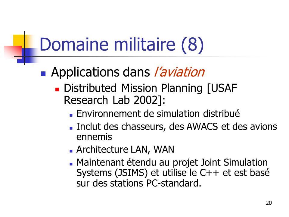 Domaine militaire (8) Applications dans l'aviation