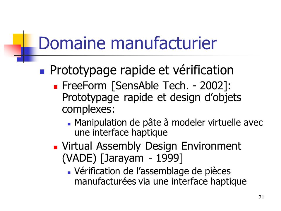 Domaine manufacturier