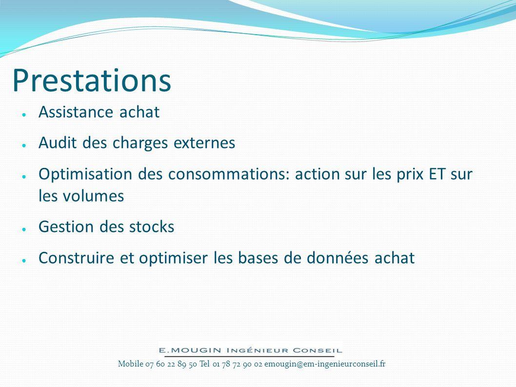 Prestations Assistance achat Audit des charges externes