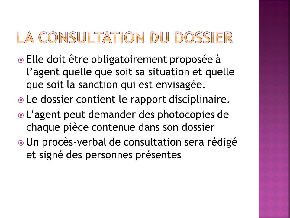 La consultation du dossier