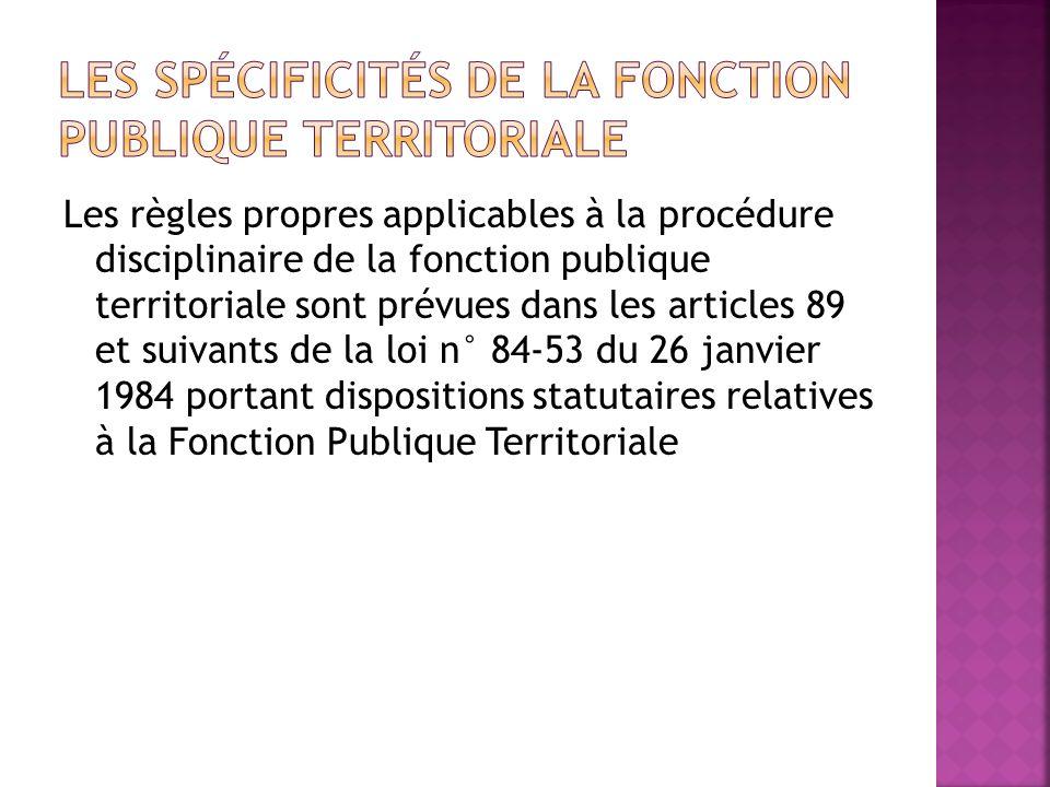 Les spécificités de la fonction publique territoriale