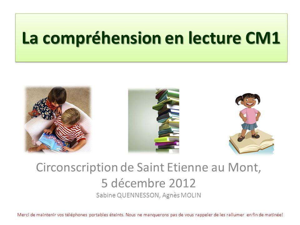 La compréhension en lecture CM1