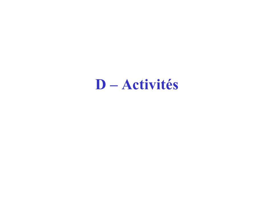D – Activités