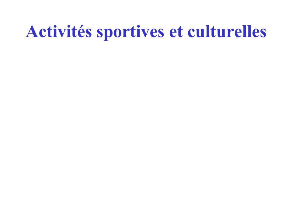 Activités sportives et culturelles