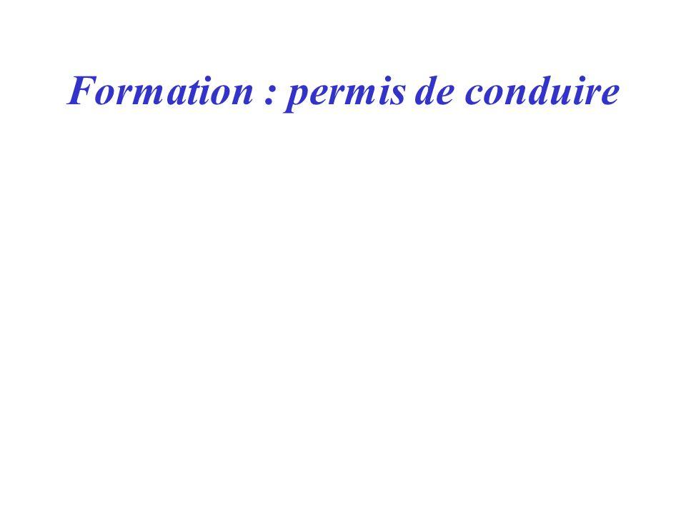 Formation : permis de conduire
