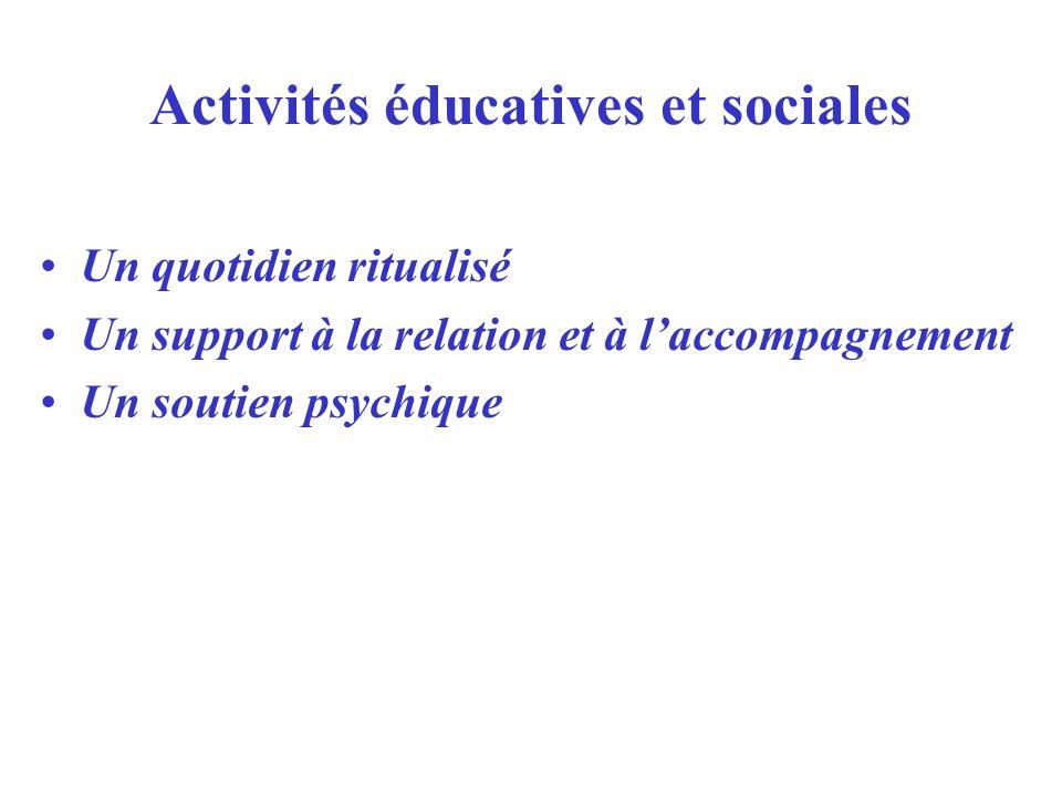 Activités éducatives et sociales