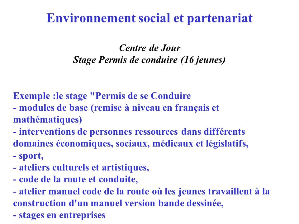 Environnement social et partenariat