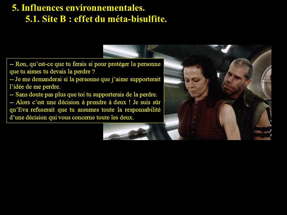 5.1 5. Influences environnementales.