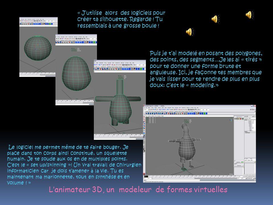 L'animateur 3D, un modeleur de formes virtuelles