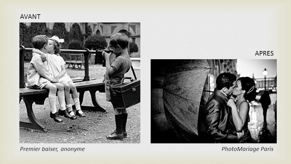 AVANT APRES Premier baiser, anonyme PhotoMariage Paris