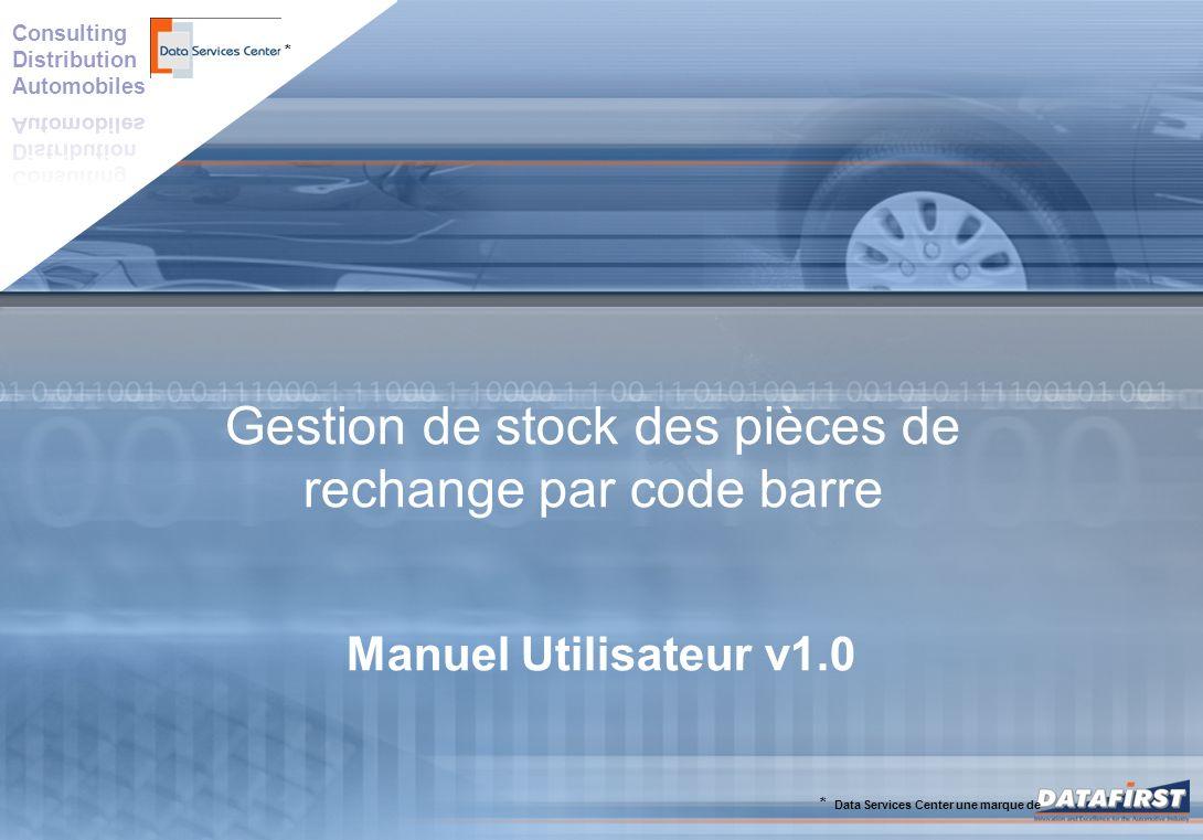 Gestion de stock des pièces de rechange par code barre