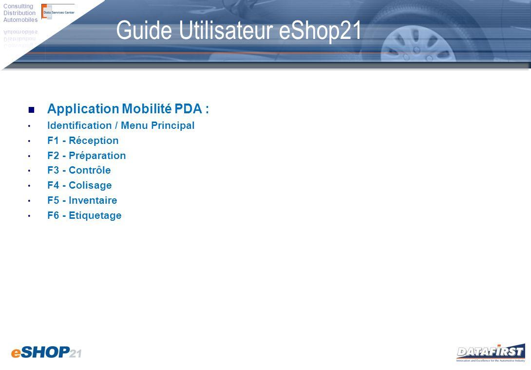 Guide Utilisateur eShop21