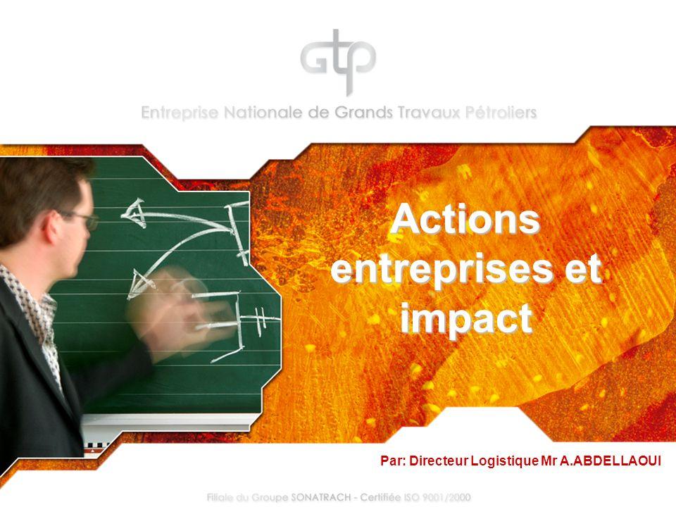 Actions entreprises et impact