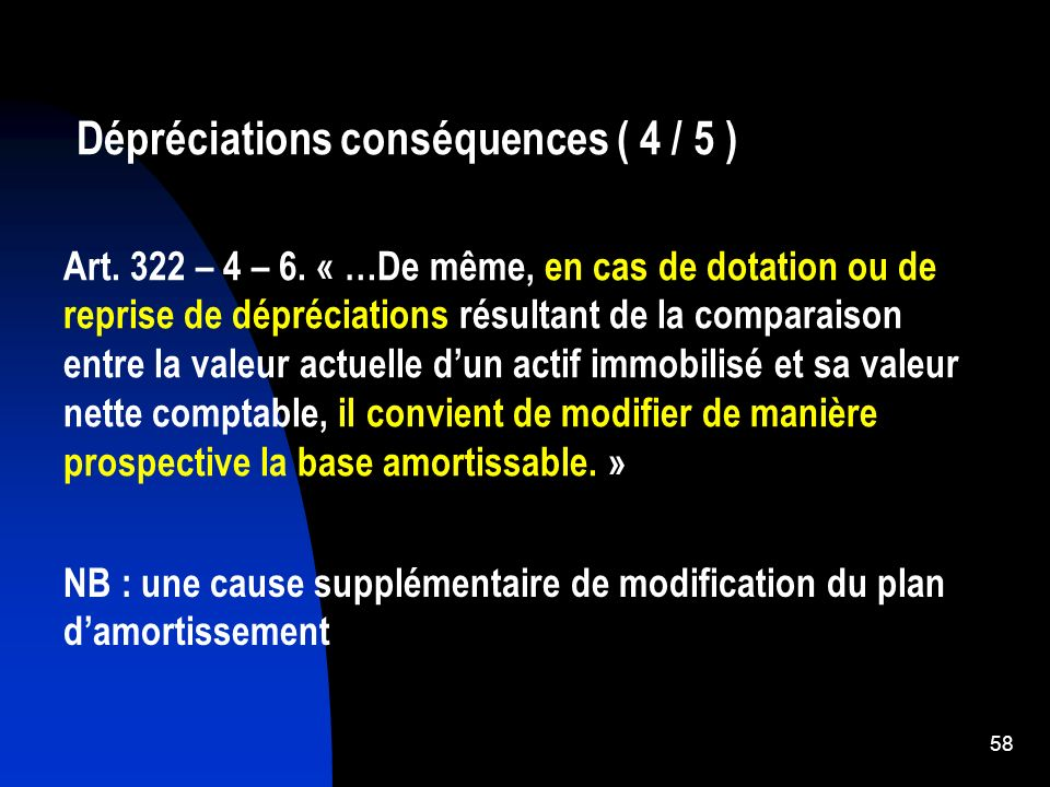 Dépréciations conséquences ( 4 / 5 )