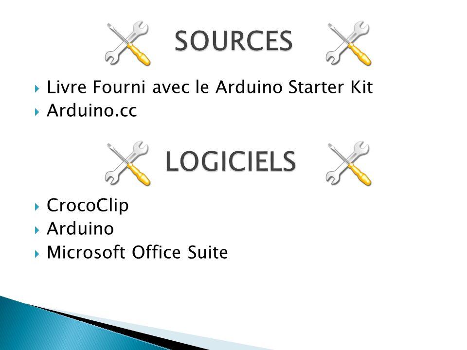 SOURCES LOGICIELS Livre Fourni avec le Arduino Starter Kit Arduino.cc