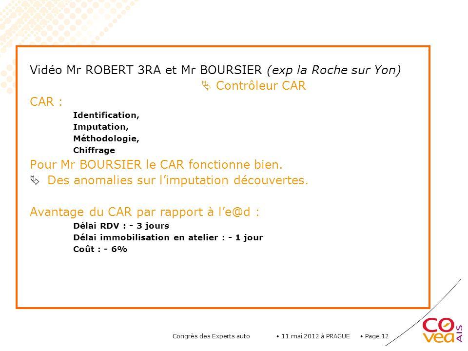 Vidéo Mr ROBERT 3RA et Mr BOURSIER (exp la Roche sur Yon)