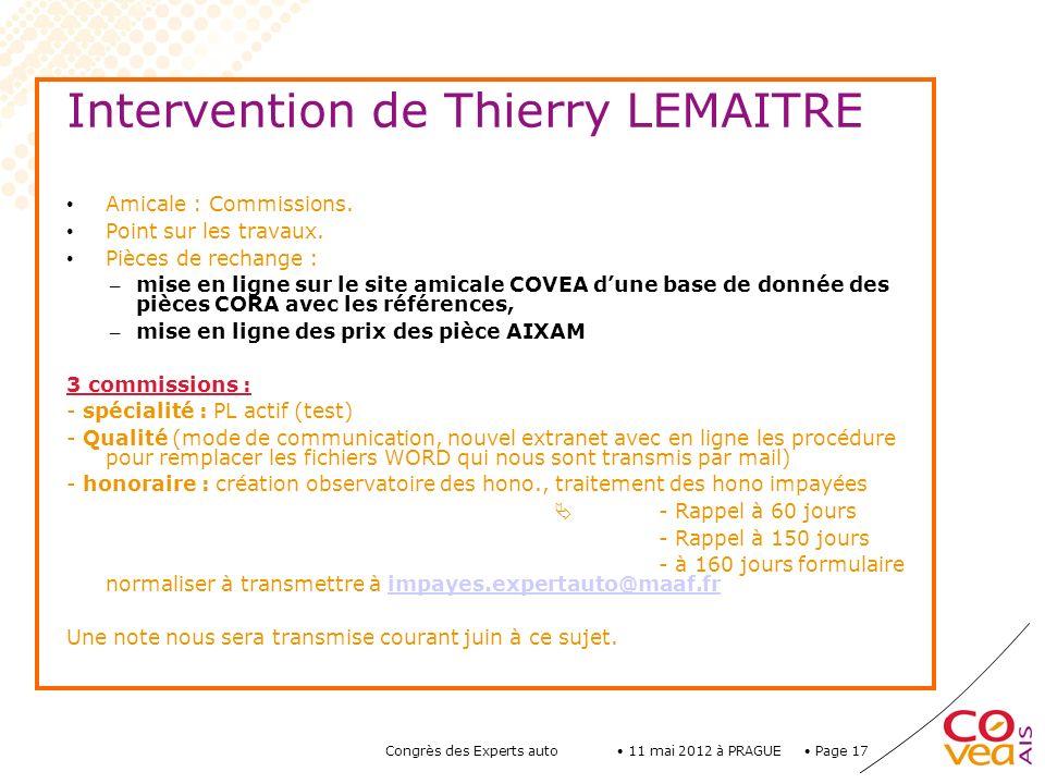 Intervention de Thierry LEMAITRE