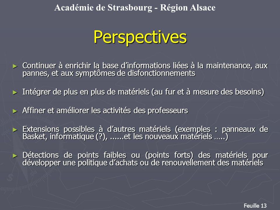 Perspectives Continuer à enrichir la base d'informations liées à la maintenance, aux pannes, et aux symptômes de disfonctionnements.