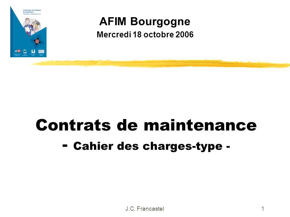 Contrats de maintenance - Cahier des charges-type -