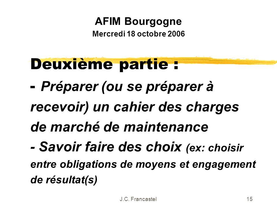 AFIM Bourgogne Mercredi 18 octobre 2006.